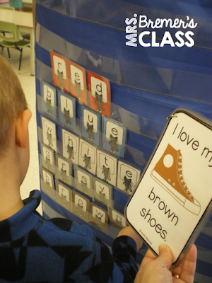Color Words activities for Kindergarten and First Grade- perfect as literacy centers!