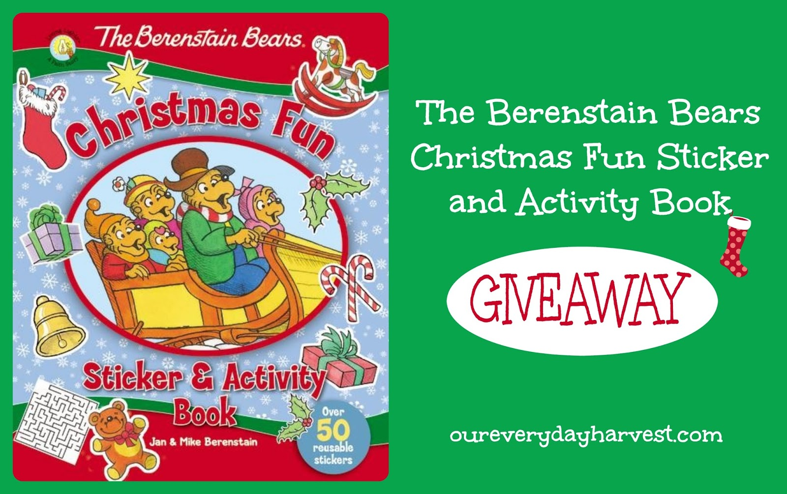 The Berenstain Bears Christmas Fun Sticker And Activity
