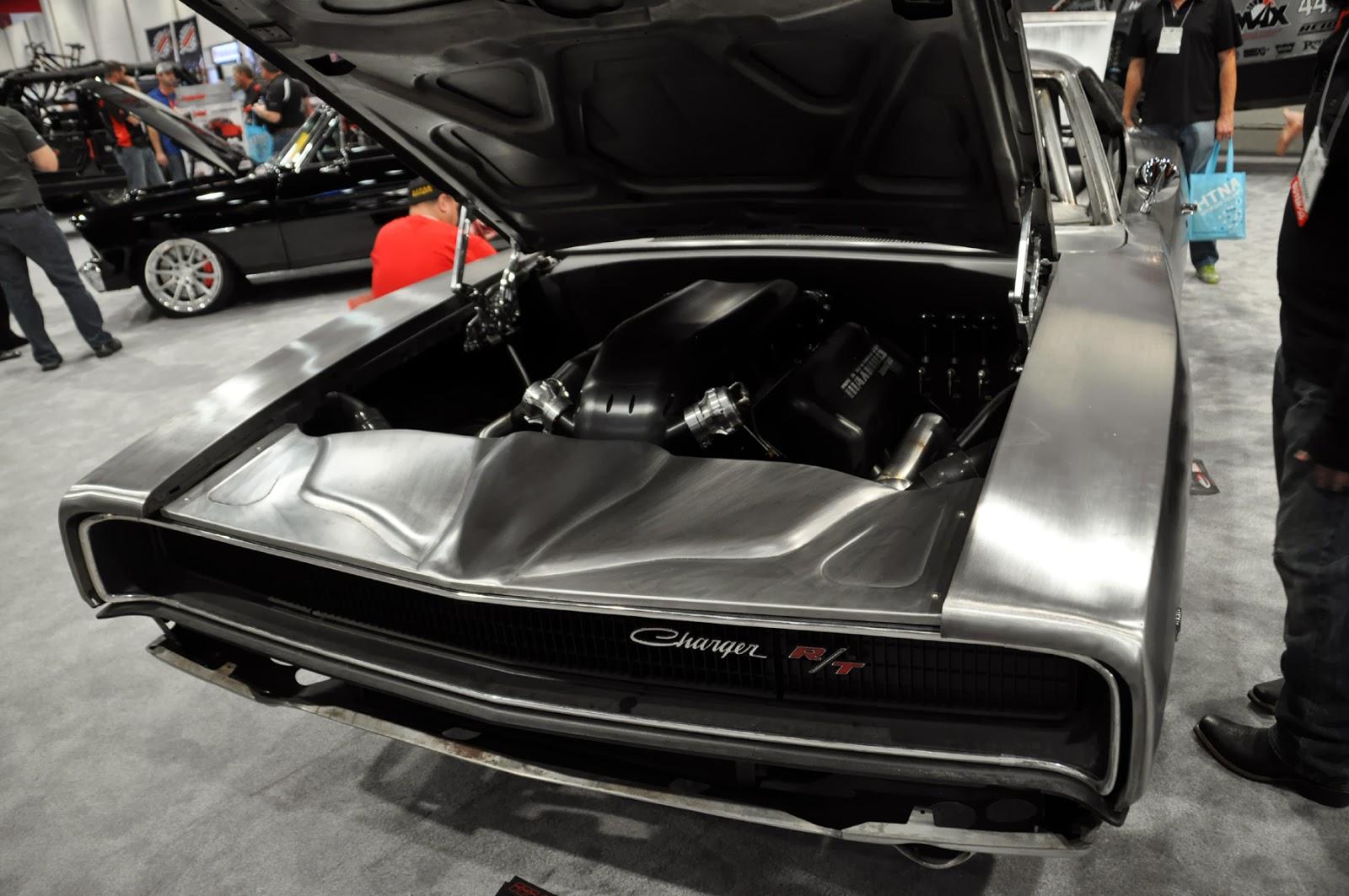 just a car guy 39 68 charger in bare metal 2000 horsepower engine. Black Bedroom Furniture Sets. Home Design Ideas