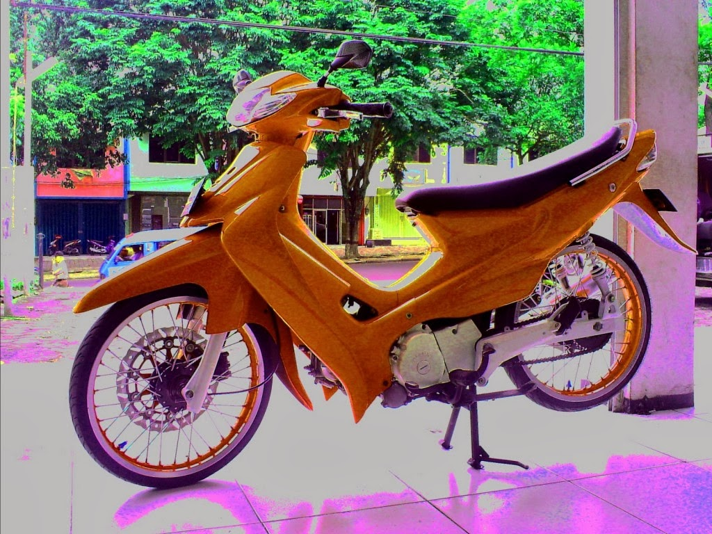 Trend Modifikasi Suzuki Smash Ala Road Race