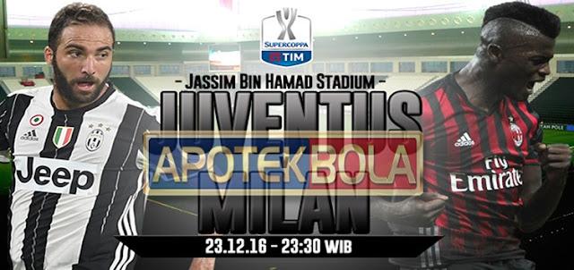 Prediksi Pertandingan Juventus vs AC Milan 23 Desember 2016
