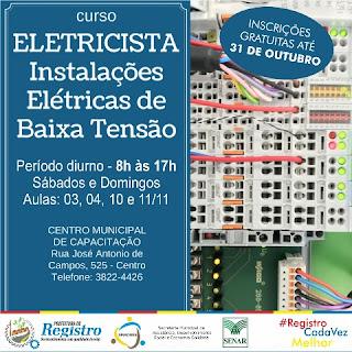Centro Municipal de Capacitação de Registro-SP está com inscrições abertas para novas turmas