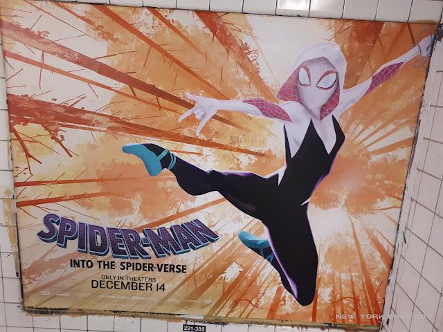 Spider-Man Into the Spider-Verse Spider Gwen subway