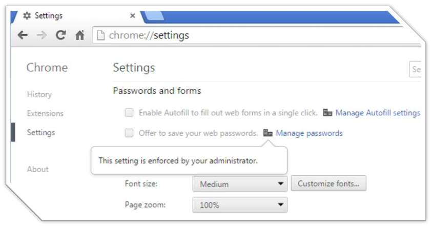 Google Chrome This Setting Is Enforced By Your Administrator