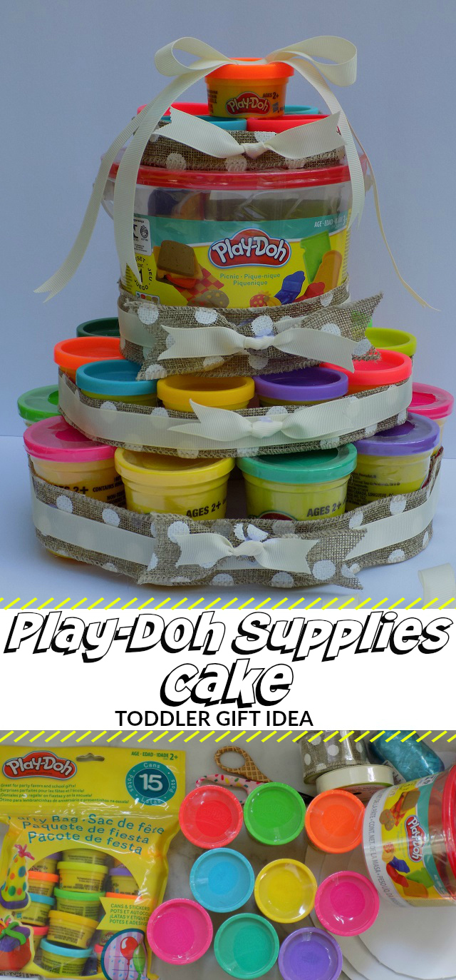 Play Doh Supplies Gift Cake