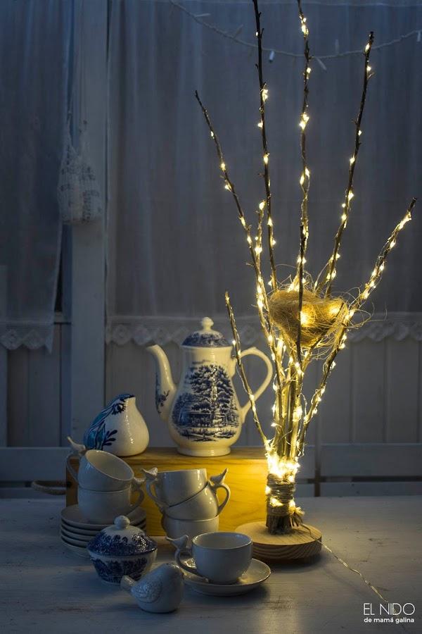 lámpara árbol DIY