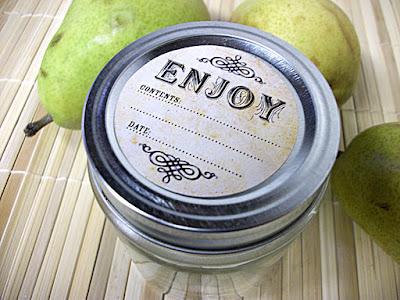 vintage canning label