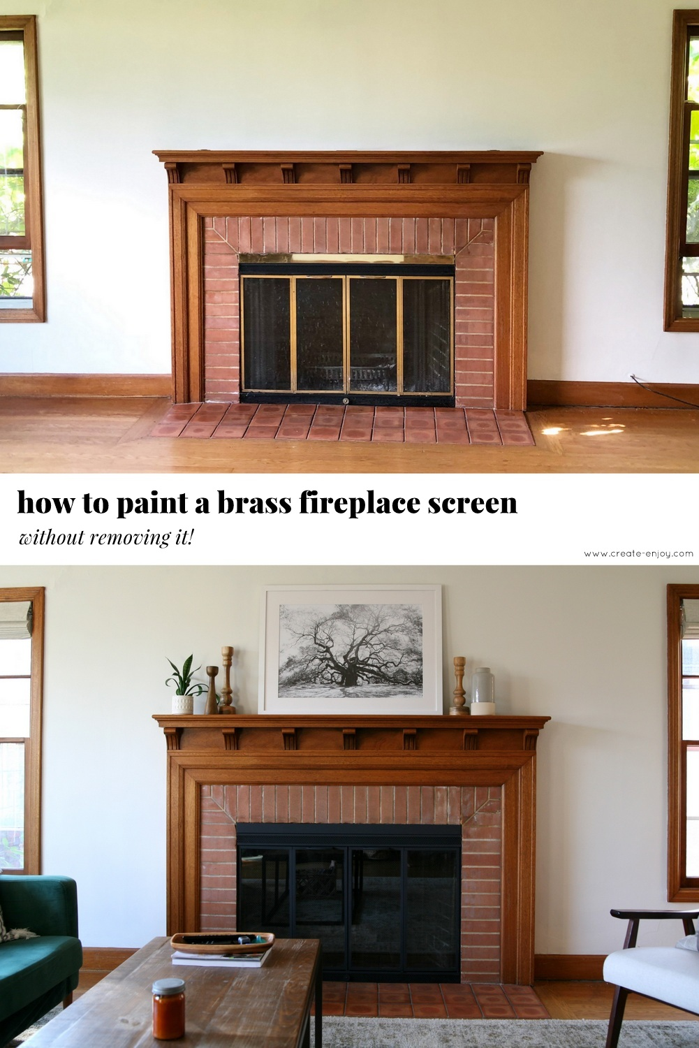 Brass Fireplace Screen How To Paint A Brass Fireplace Screen Without Removing It