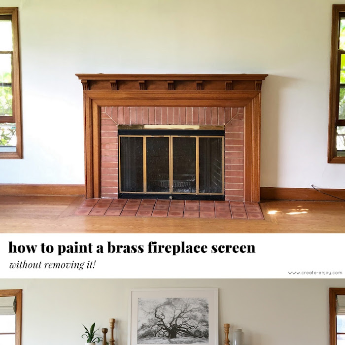 Painting Brass Fireplace Screen Fireplace Design Ideas