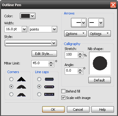 Drawing a Rounded Triangle in CorelDraw
