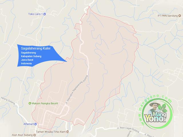 PETA : Desa Sagalaherang Kaler, Kecamatan Sagalaherang