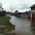 Lluvias inundan calles de La Ceiba