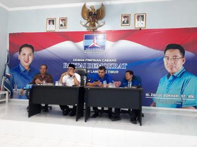 Partai Demokrat Lampung Timur Siap Menangkan Pasangan Ridho-Bachtiar