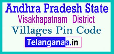 Visakhapatnam Pin Codes in Andhra Pradesh State