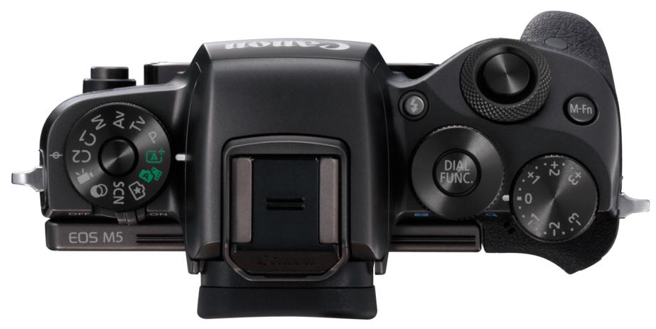 Canon EOS M5, вид сверху