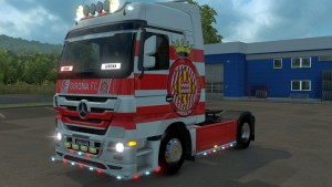 Girona FC skin for Mercedes Actros