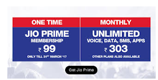 Jio Prime Offer - Get Rs. 50 Off coupon for activating Jio Prime Membership