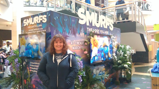 The Smurfs movie display