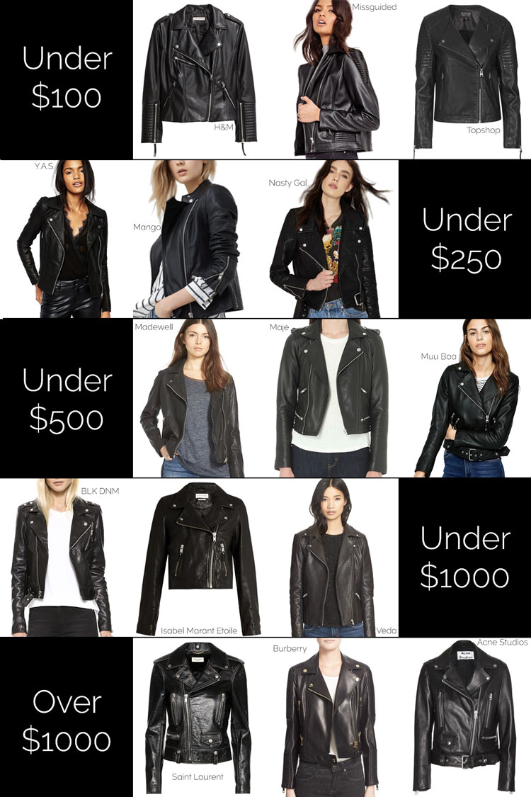 Leather jacket under 500 - Here Are Some Of My Favorite Leather Jackets At Every Price Point