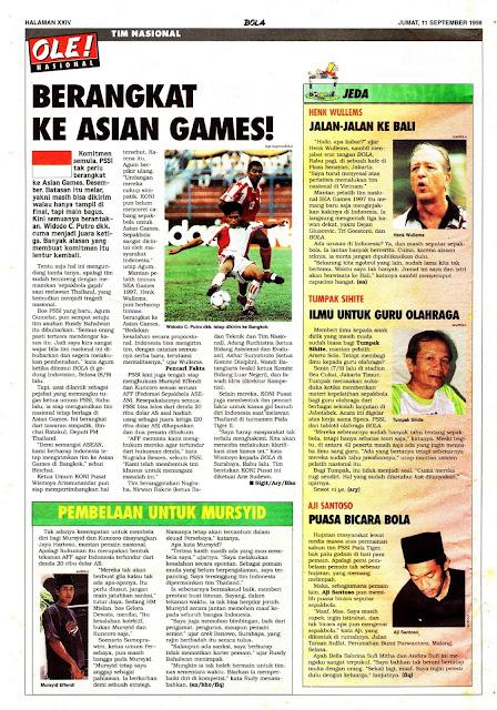 SEPAKBOLA TIM NASIONAL BERANGKAT KE ASIAN GAMES