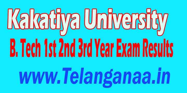 Kakatiya University B.Tech 1st 2nd 3rd Year Exam Results Download