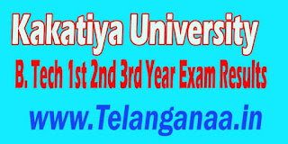 Kakatiya University B.Tech 1st 2nd 3rd Year Exam Results Download