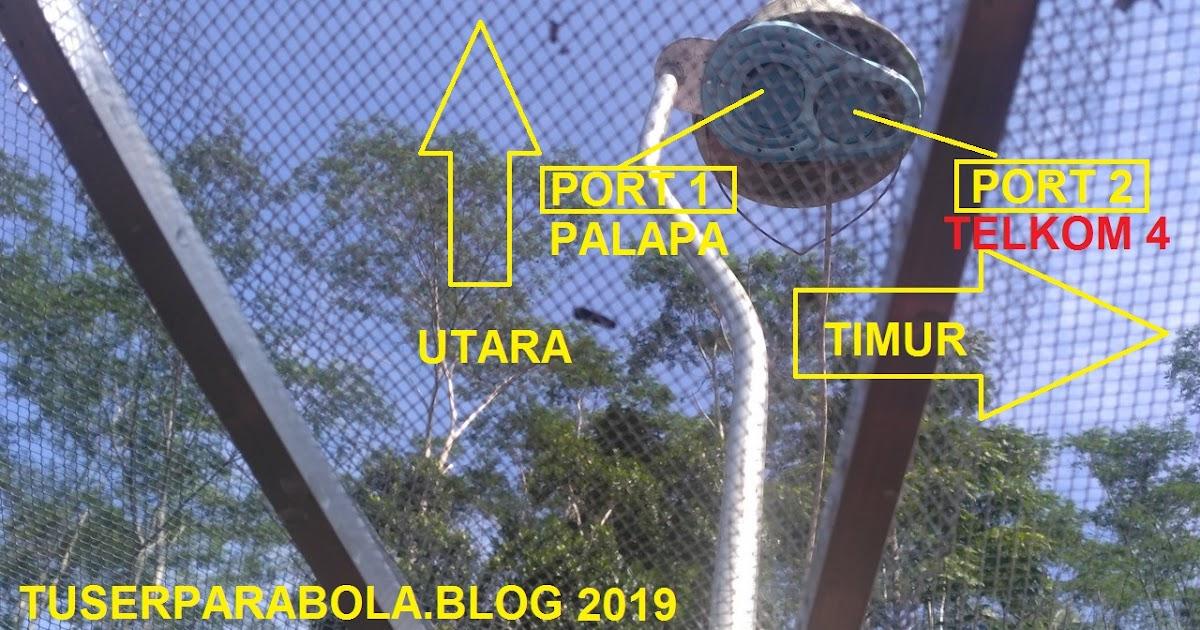 Cara menyetel parabola 2 lnb,panduan cara mencari satelit telkom 4