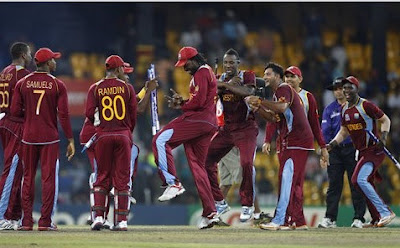 West Indies Celebrate after Win ICC 2012 T20 World Cup