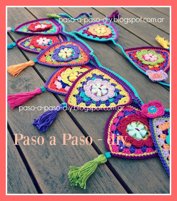 cómo tejer banderines al Crochet