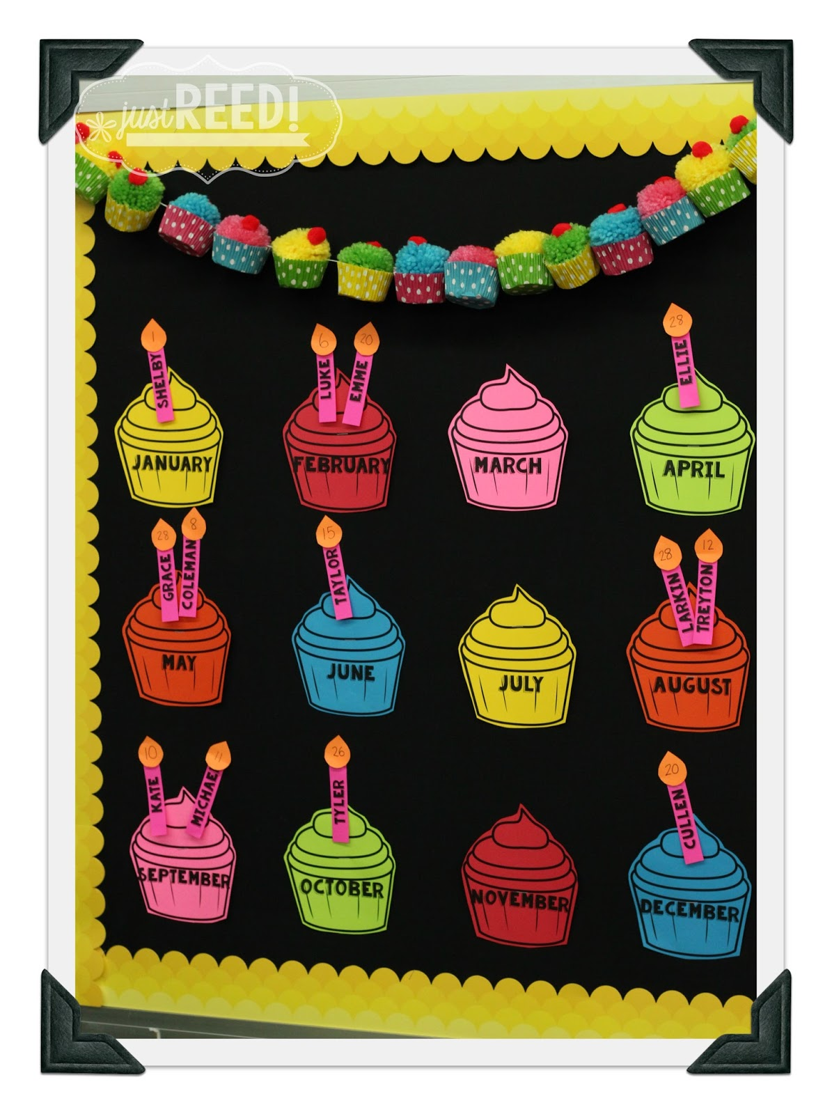birthday charts for class room: Classroom reveal 2015 2016 just reed