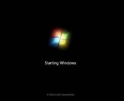 memulai install windows 7