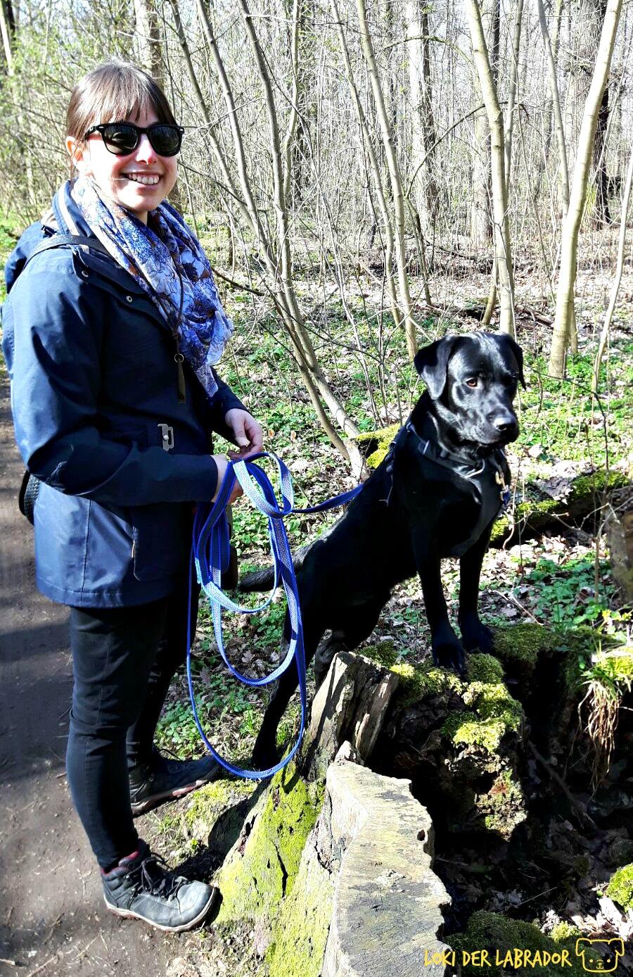 Loki und Frauchen im Wald