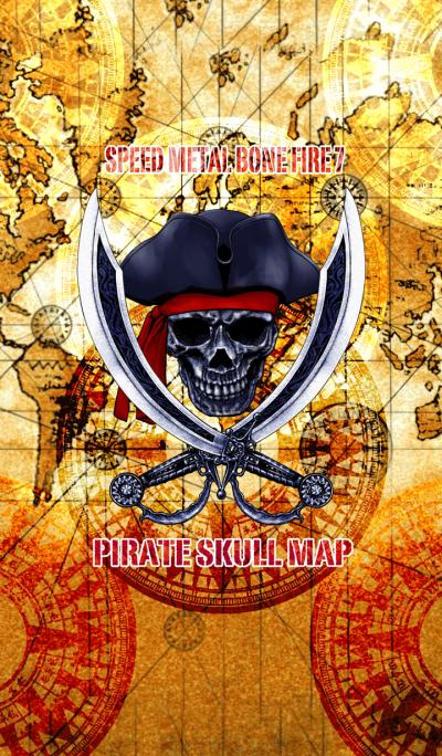 Speed Metal Bone Fire 7 Pirate skull map