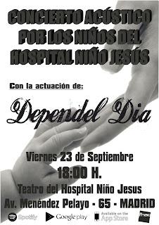 cartel concierto acustico hospital infantil niño jesus