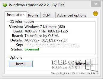 Windows Loader v 2.2.2.0 | WEPsoft