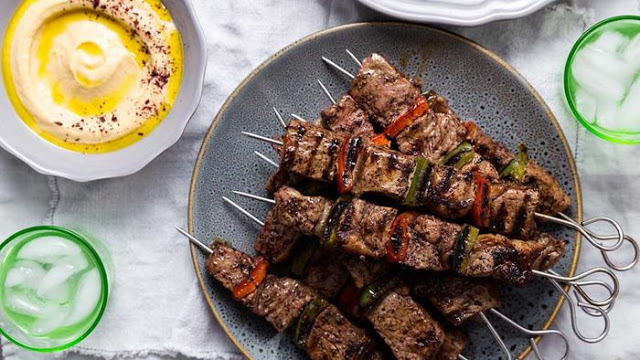 If you ask me about my favourite type of meat The Lebanese Plate's 'not just' a beef skewer recipe
