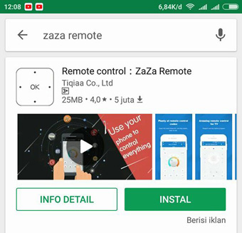 cara menjadikan hp Android sebagai remote control