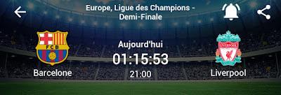 مباراة برشلونة ضد ليفربول الانجليزي اليوم  في نصف نهائي دوري ابطال اوروبا