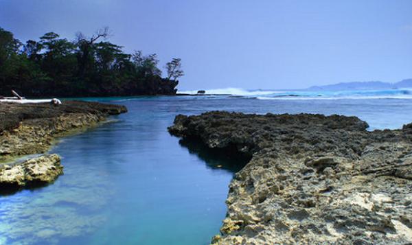 Tempat Wisata Pantai Ombak Tujuh Sukabumi Ujung Genteng