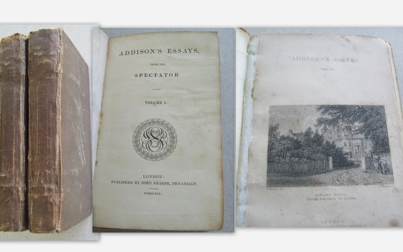 my sentimental library a virtual tour of my collection of essays joseph addison 1672 1719 and richard steele 1672 1729 the tatler and the guardian complete in one volume