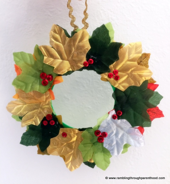 Hand-crafted Christmas wreath