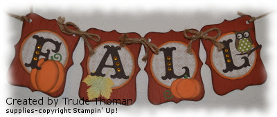 Fall, Banner, Stamp with Trude, Stampin' Up!, Top Note
