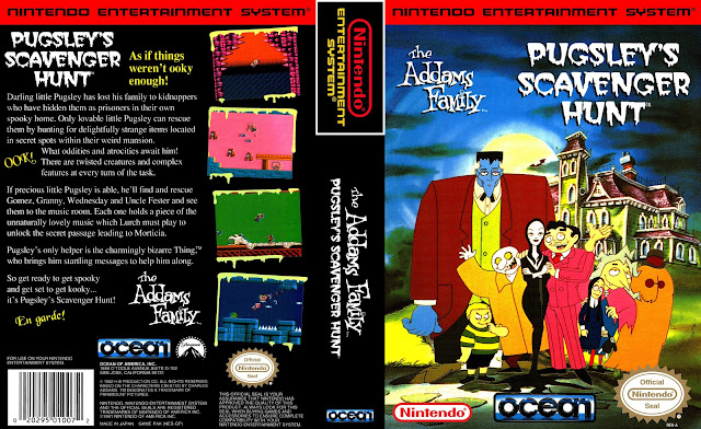Capa Addams Family Pugsleys Scavenger Hunt NES