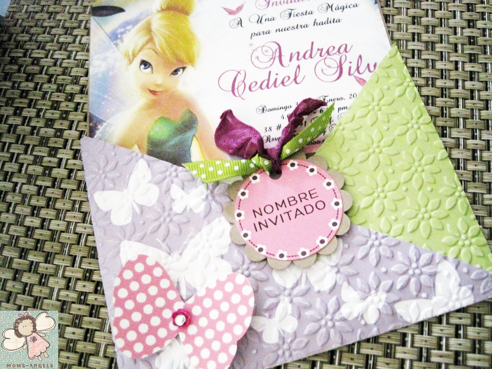 Moms Angels Invitacion De Tinkerbell