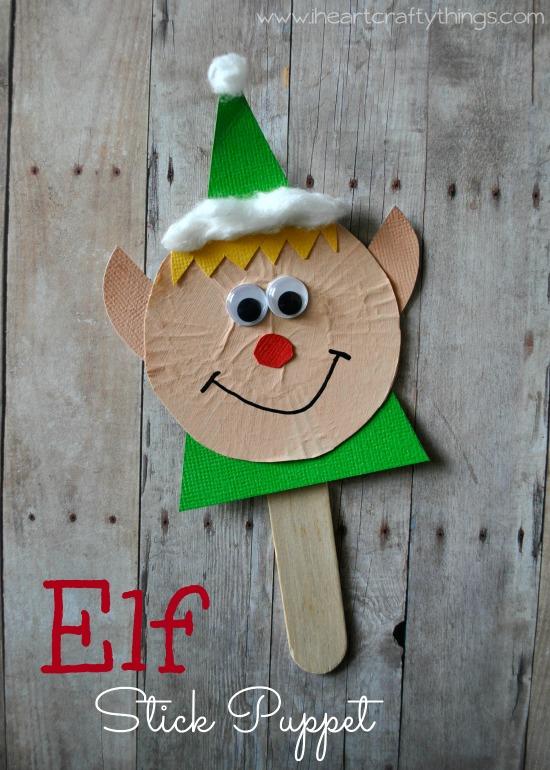 Elf Craft - Elf Stick Puppet