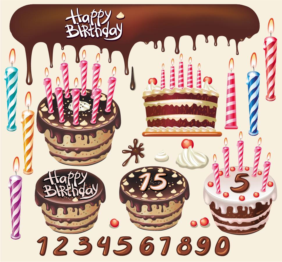 カレンダー カレンダー 2014 テンプレート 無料 : Birthday Cake Vector Art