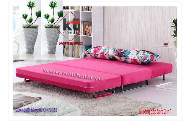 Lo gì diện tích nhỏ khi có SOFA BED 2IN1