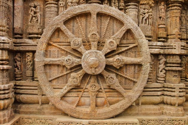 Konark Sun Temple chariot wheel and Erotica Sculptures
