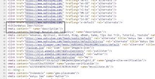Meta Description Blogspot