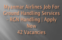 Myanmar Airlines Job for Ground Handling Services